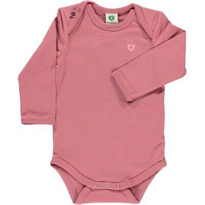 Småfolk - Økologisk Basis Langærmet Body - Mesa Rose - Børnetøj - Småfolk