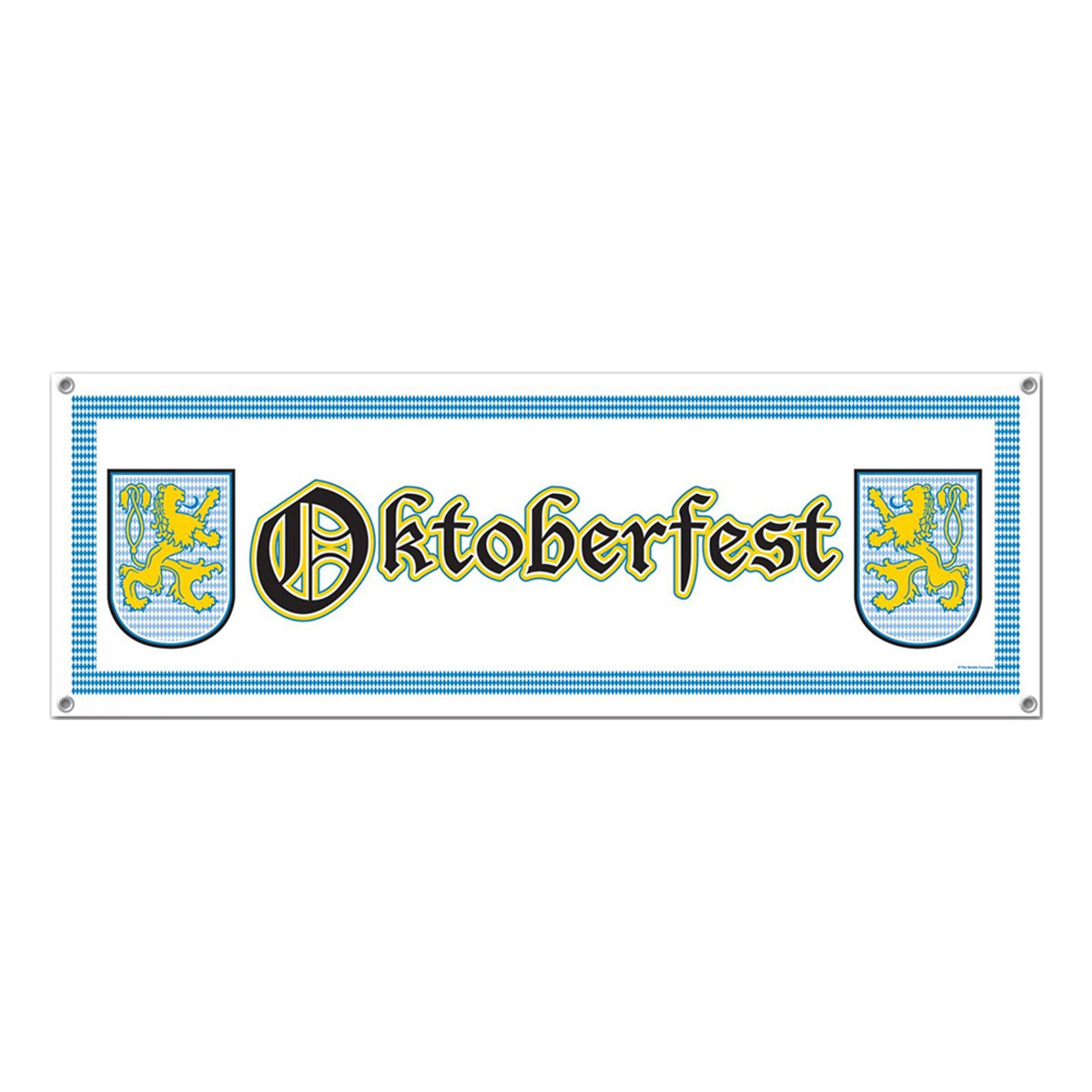 360 Degrees Ltd Banner Oktoberfesten Hvid