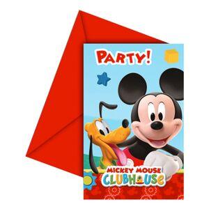 Mickey's Clubhouse Indbydelser - 6-pak
