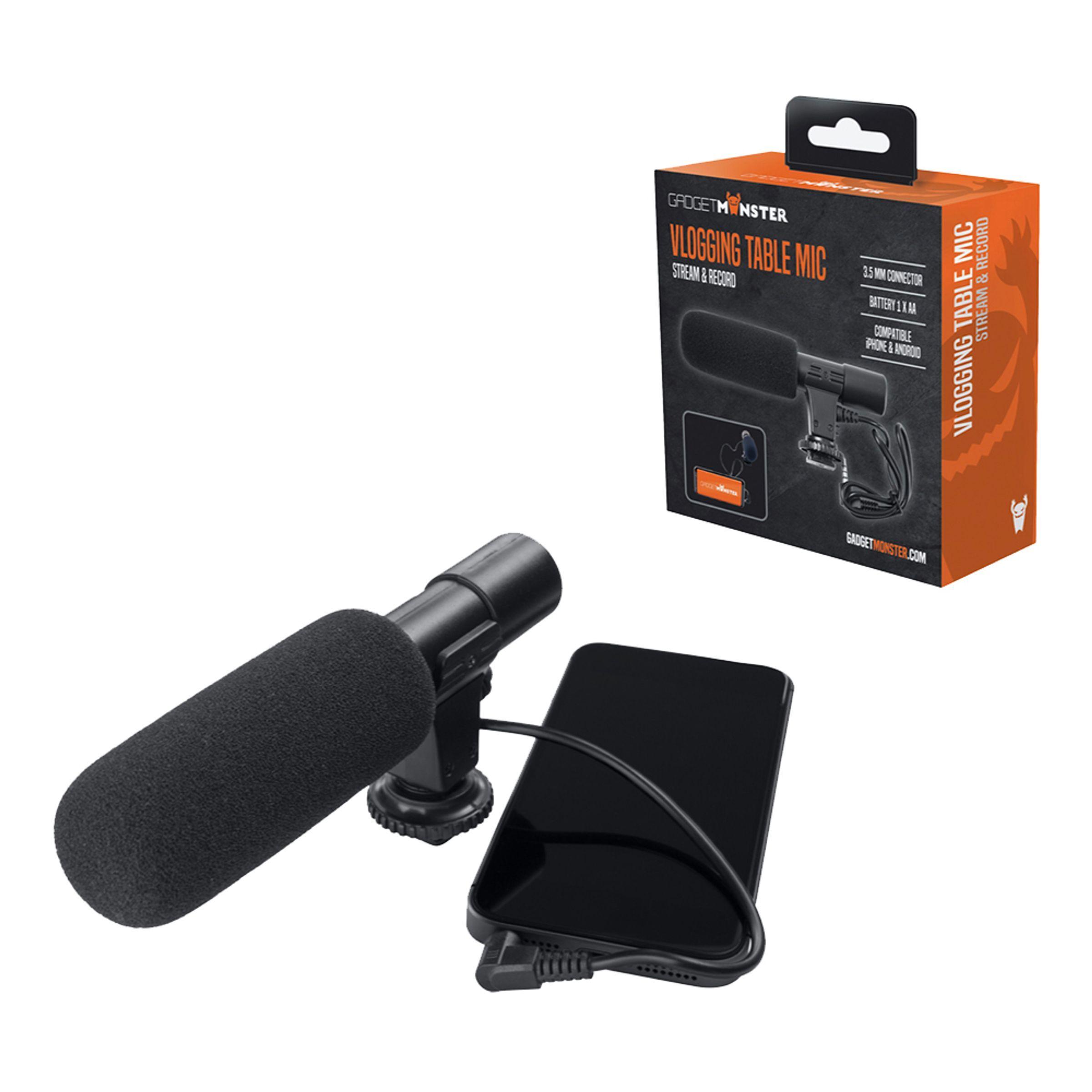 Deltaco GadgetMonster Vlogging Mikrofon
