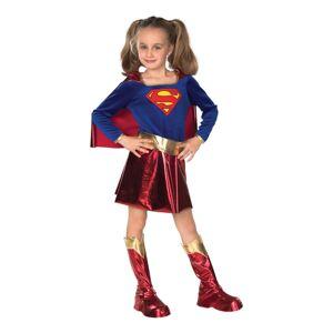 Rubies Costumes Co. Supergirl Børnekostume Deluxe - Small