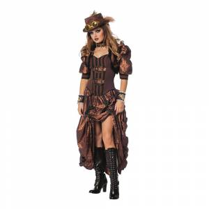 Wilbers Karnaval Steampunk Kvinde Kostume Deluxe - Medium