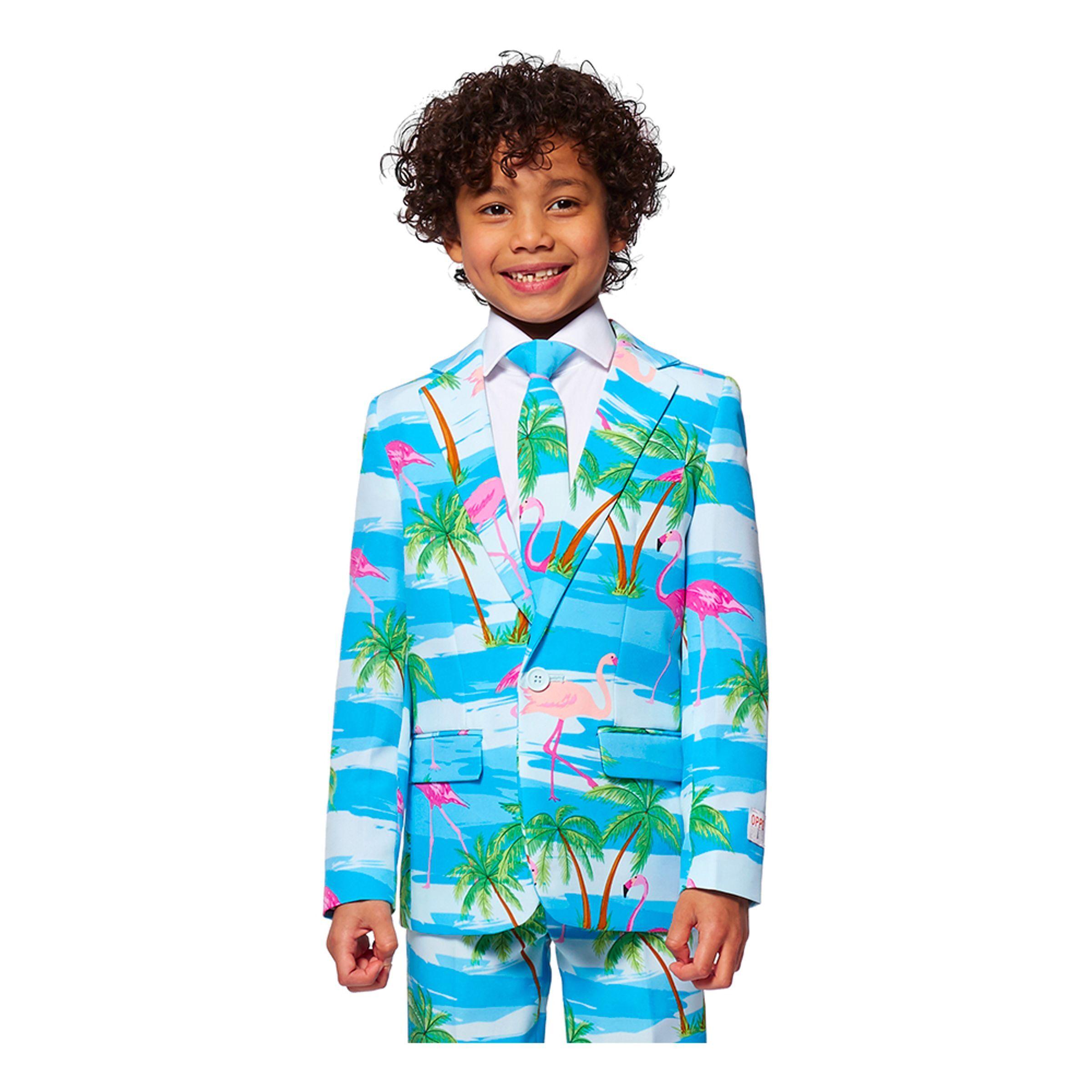 OppoSuits Boys Flaminguy Kostume - 110/116