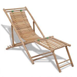 vidaXL dækstol med fodstøtte bambus
