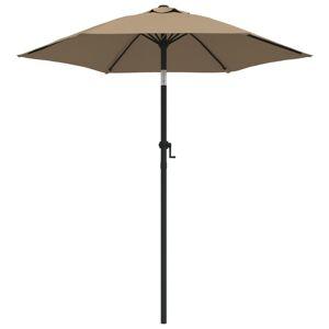 vidaXL parasol 200x211 cm aluminium gråbrun