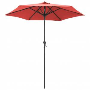 vidaXL parasol 200x211 cm aluminium terracotta