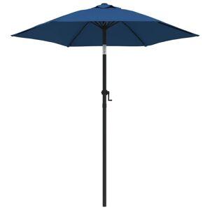 vidaXL parasol 200x211 cm aluminium blå