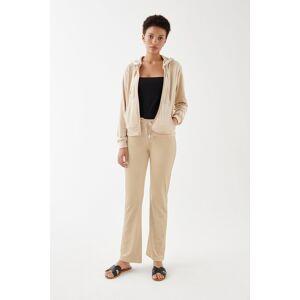 Gina Tricot Cecilia velour trousers XS Female Caramel beige (7132)