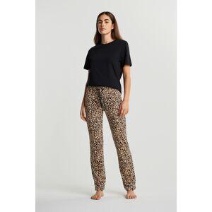 Gina Tricot Cecilia velour trousers M Female Leopard