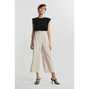 Gina Tricot Disa linen culotte trousers 34 Female Lt linen beige (1037)