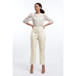 Gina Tricot Jane Vinyl trousers 44 Female Kitt (7017)