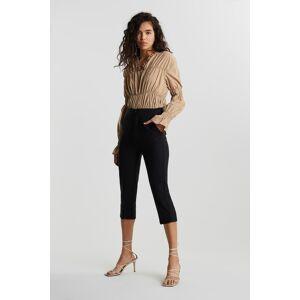 Gina Tricot Karin capri trousers 42 Female Black (9000)