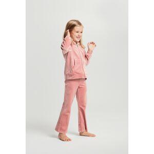 Gina Tricot Mini Cecilia velour pants 110 Female Ash rose (3604)