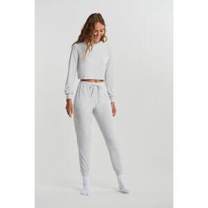Gina Tricot Andrea high waist joggers S Female Lt grey melange