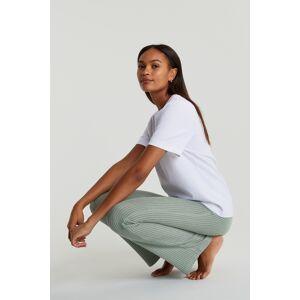 Gina Tricot Stina rib trousers XS Female Iceberg green (6125)