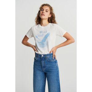 Gina Tricot Ivory tee XL Female Offwh/bluetour (1331)