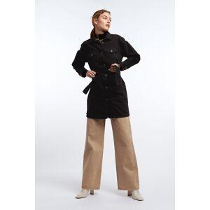 Gina Tricot Silje denim shirt dress S Female Black/grey