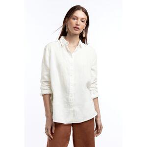 Gina Tricot Kimberly linen shirt 40 Female Offwhite