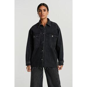 Gina Tricot Shirt denim jacket S Female Black snow (9013)