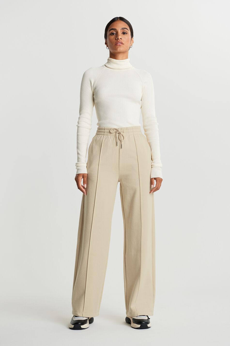 Gina Tricot Bonnie sweatpants L Female Brown rice (7316)