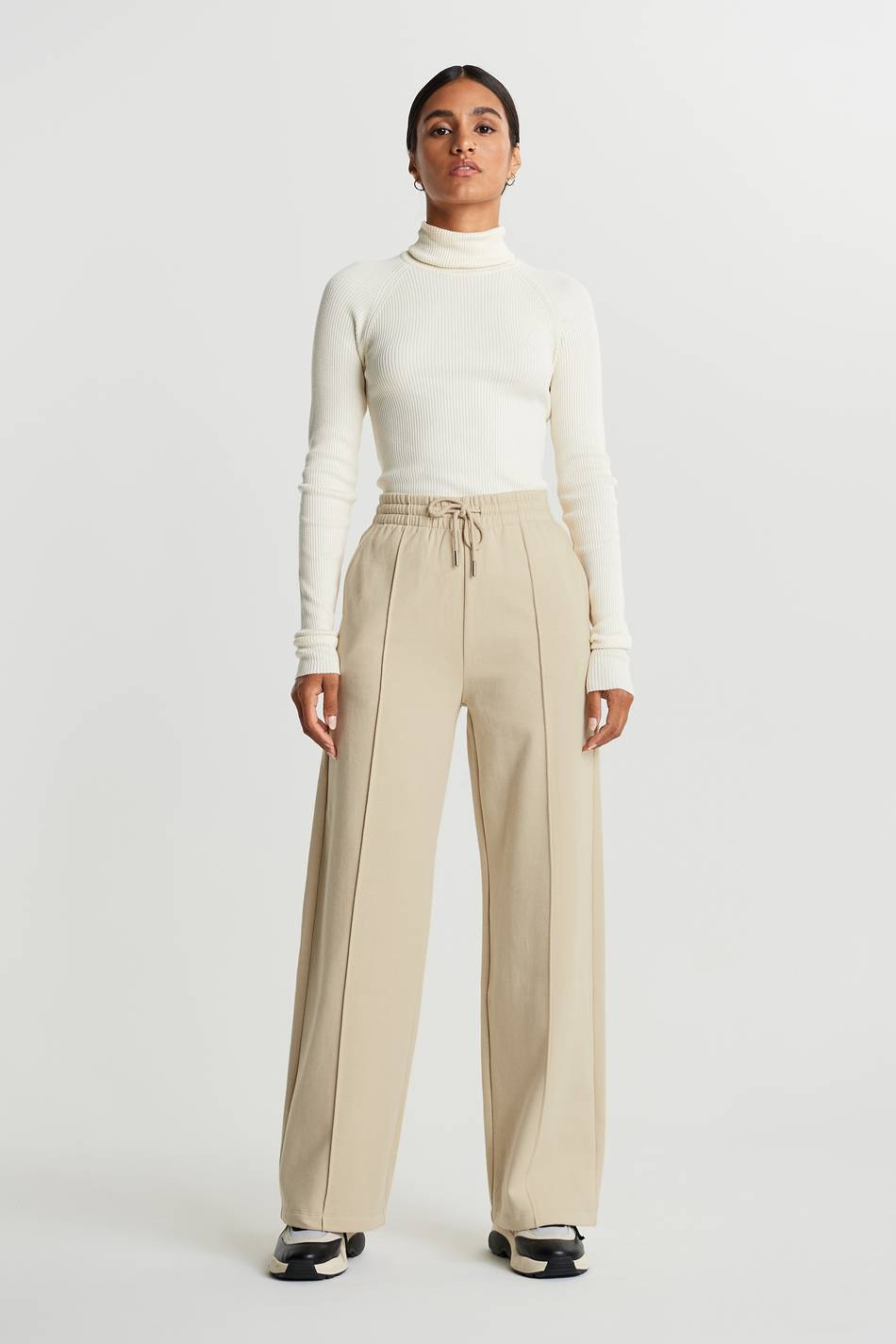 Gina Tricot Bonnie sweatpants XL Female Brown rice (7316)