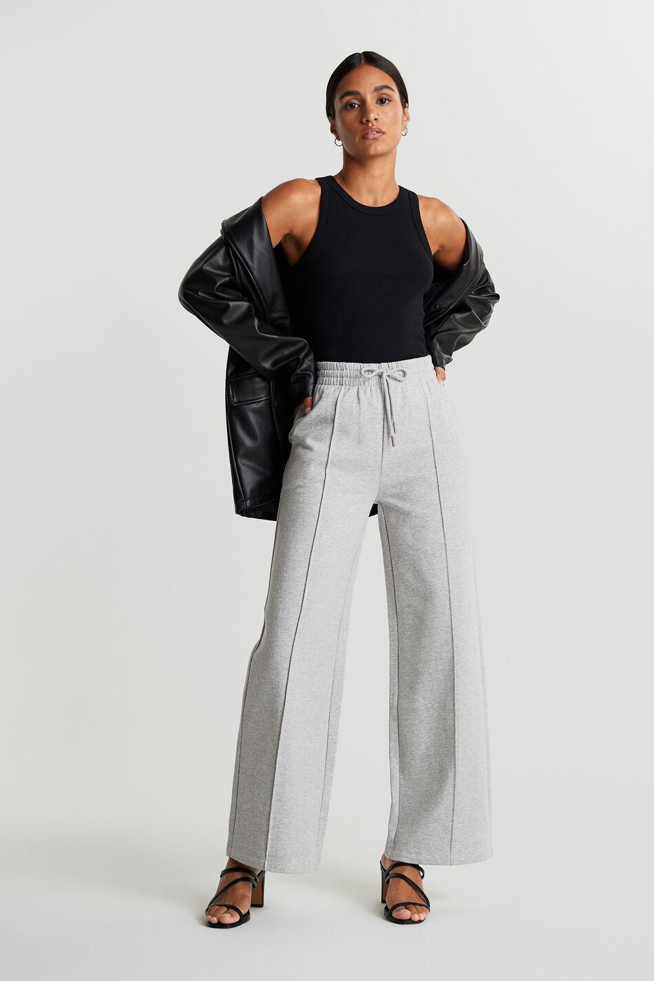 Gina Tricot Bonnie sweatpants L Female Grey melange (8181)