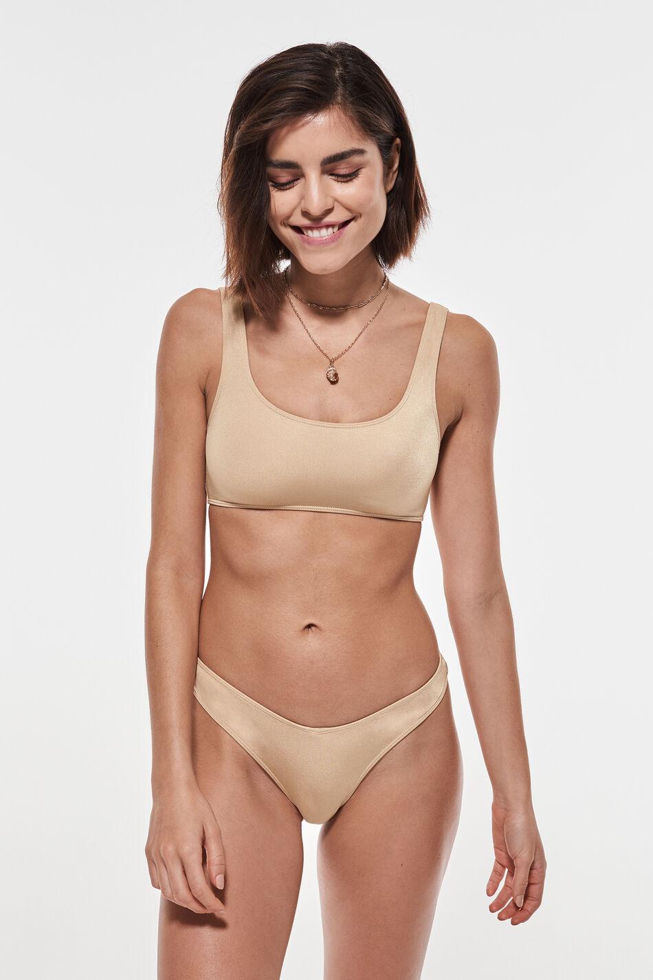 Gina Tricot Kelly bikini top XL Female Beige (1040)