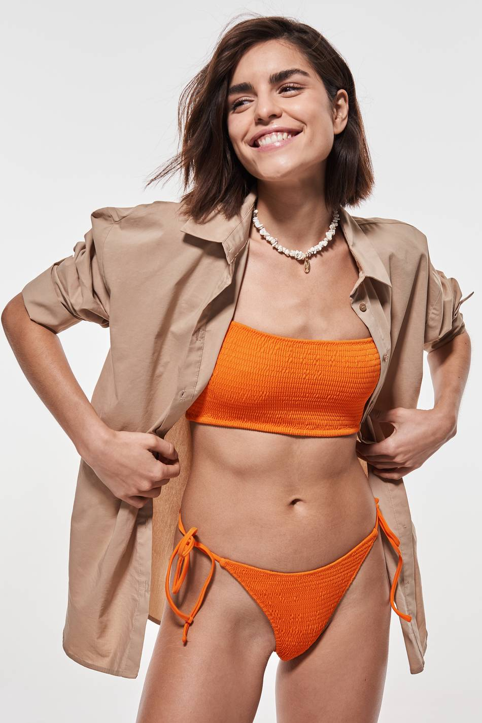 Gina Tricot Karlie bikini brief M Female Jaffa orange (2260)