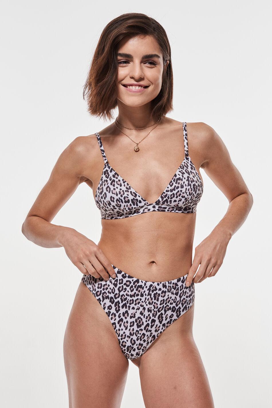 Gina Tricot Nina highwaist bikini brief XL Female Leo/aop
