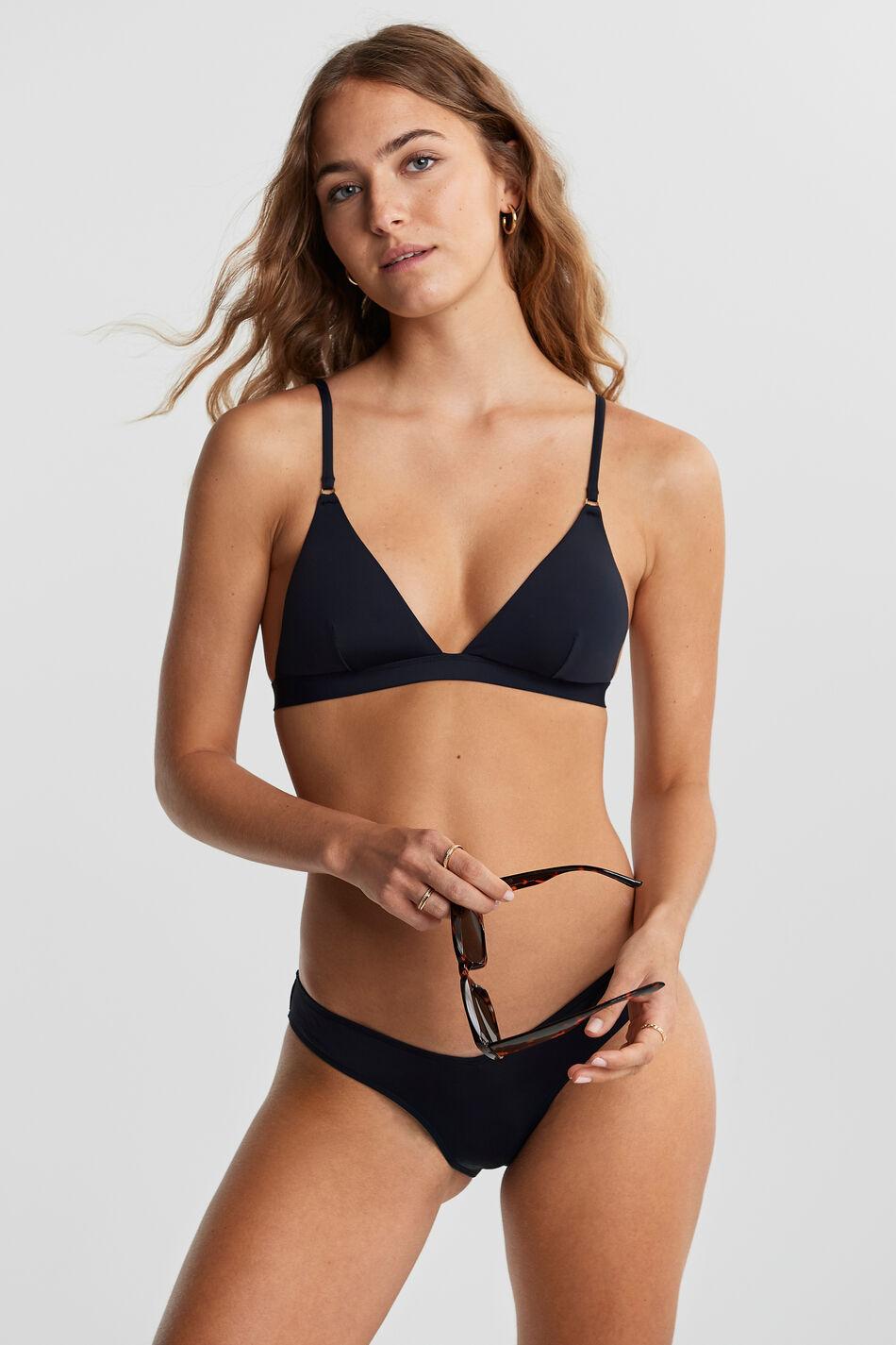 Gina Tricot Nina bikini triangle L Female Black (9000)