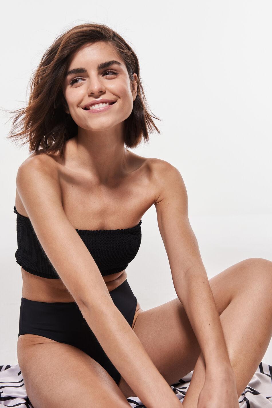 Gina Tricot Nina bikini bandeau S Female Black (9000)