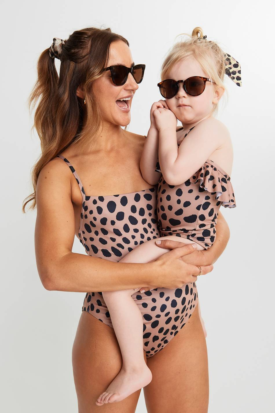 Gina Tricot Me Emelie swimsuit XS Female Brown spot (7153)
