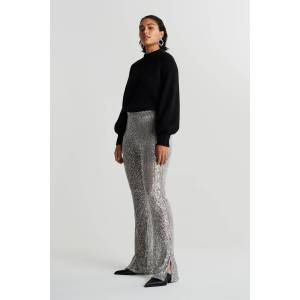 Gina Tricot Sequin trousers S Female Grey