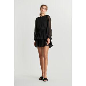 Gina Tricot Amber pleated dress 32 Female Black (9000)