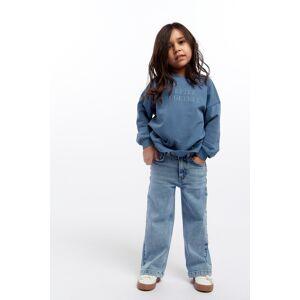 Gina Tricot Mini wide jeans Female Blue 116