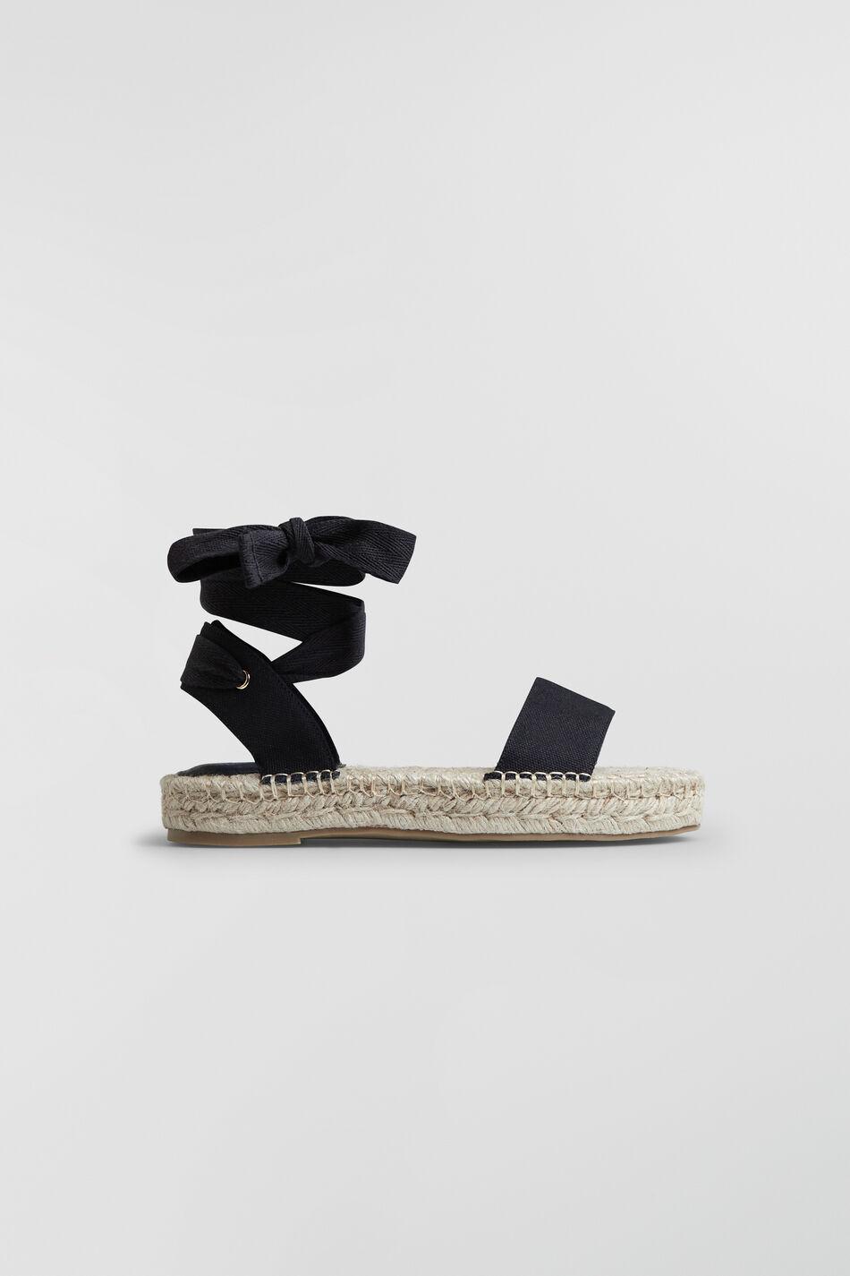 Gina Tricot Hilda lace up espandrilles 41 Female Black (9000)