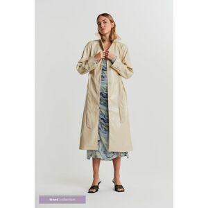 Gina Tricot Manda PU coat M Female Creme bruleé (7397)