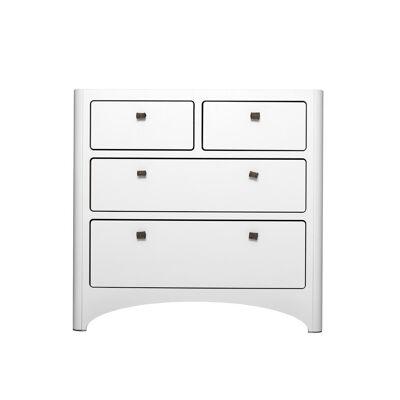 Leander® Kommode m. 4 skuffer - Hvid - Babymøbler - Leander