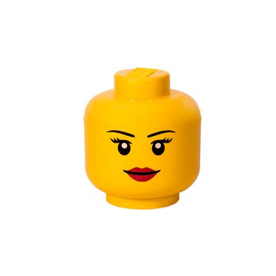 Lego Opbevaringshoved Stor - Pige - Baby Spisetid - Lego