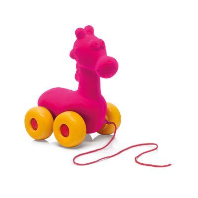 Rubbabu Træk Giraf Pink - Baby Spisetid - Rubbabu