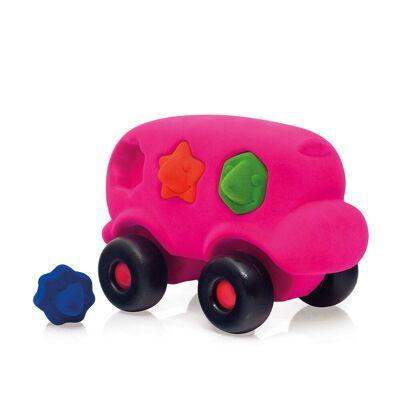 Rubbabu Bus Pink - Baby Spisetid - Rubbabu