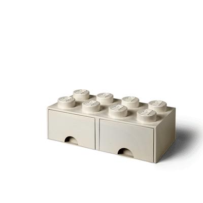 Lego Opbevaringsskuffe Brick 8 - Hvid - Baby Spisetid - Lego