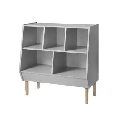Done By Deer Storage rack, grey - Baby Spisetid - Done By Deer
