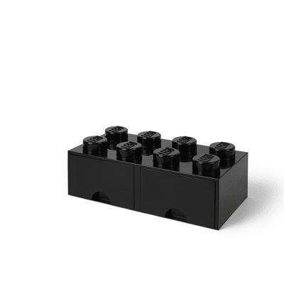 Lego Opbevaringsskuffe Brick 8 - Sort - Baby Spisetid - Lego