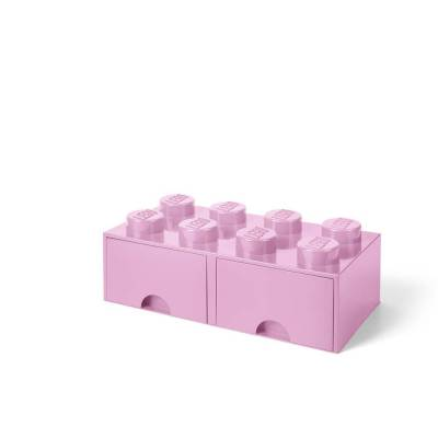 Lego Opbevaringsskuffe Brick 8 - Lys Pink - Baby Spisetid - Lego