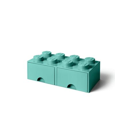 Lego Opbevaringsskuffe Brick 8 - Aqua Blå - Baby Spisetid - Lego
