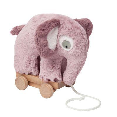 Sebra Plys trækdyr Elefant, Rose - Baby Spisetid - Sebra