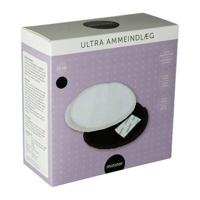 Mininor Ammeindlæg Ultra 24 Stk - Sort - Baby Spisetid - Mininor