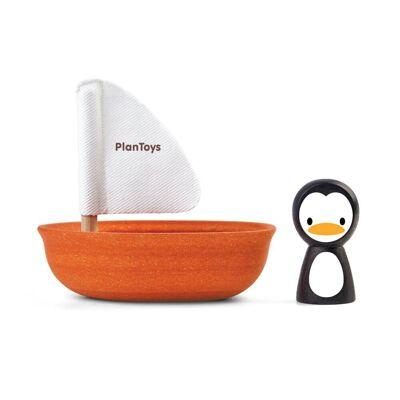 Plantoys Pingvin Sejlbåd - Baby Spisetid - Plantoys