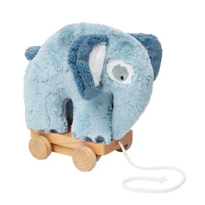 Sebra Plys Trækdyr Elefant, Blue - Baby Spisetid - Sebra